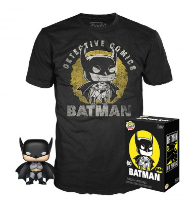 DC Comics POP! & Tee Box Batman Sun Faded Exclusive