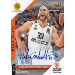Upper Deck EuroLeague 2017-2018 Autographs Nick C..