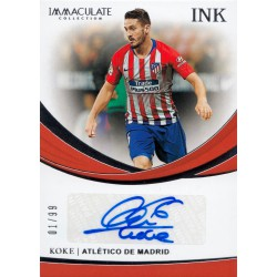 PANINI IMMACULATE COLLECTION 2018-2019 INK Koke (..
