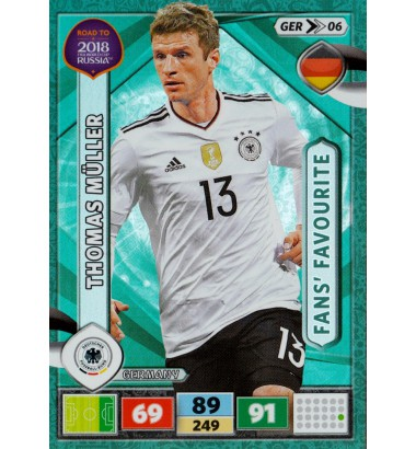 ROAD TO RUSSIA 2018 Fans' Favourite Thomas Müller (Germany)