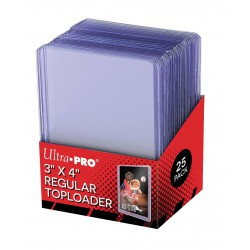 "ULTRA PRO 3"" X 4"" Clear Regular Toploader 35pt"